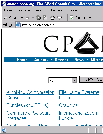 [screenshot, search.cpan.org]